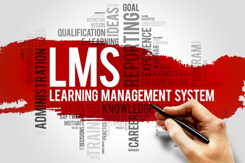 Learning Management System (LMS) word cloud business concept